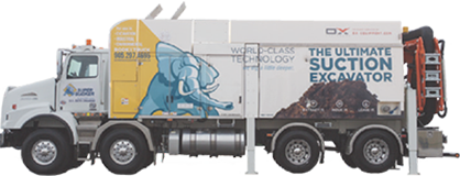 dry suction excavation truck