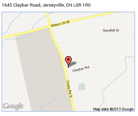 map for 1643 Claybar Road
