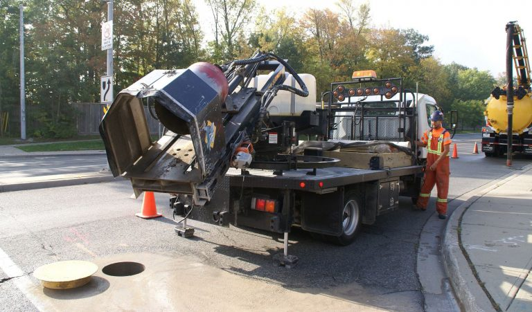 coring and vac truck
